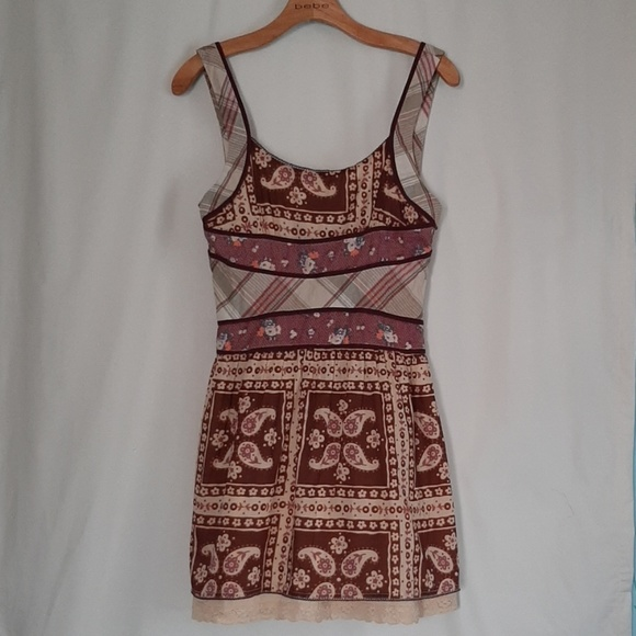 Free People Dresses & Skirts - Free People Cotton Patchwork Mini Dress NWOT Sz 6